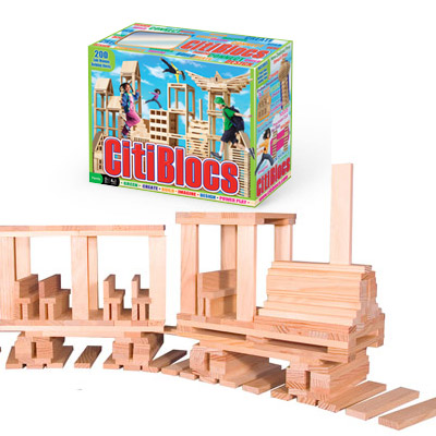 CitiBlocs 200-Piece Wooden Building Set