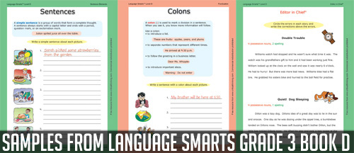 Language Smarts grade 3 Book D Sample Pages
